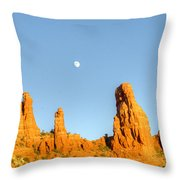 Mother And Child And Moon 25 Throw Pillow