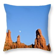 Mother And Child And Moon Throw Pillow