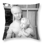 Mother And Child Statue Throw Pillow