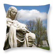 Mother And Children Throw Pillow by Jennifer Ancker