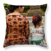 Mother And Daughter Throw Pillow