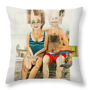 Mother And Father Throw Pillow