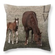 Mother And Son Love Throw Pillow