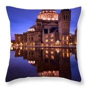 Mother Church Boston Throw Pillow
