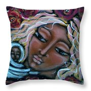 Mother Divine Throw Pillow