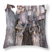 Mother Divine Temple - Amarkantak India Throw Pillow