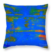 Mother Earth 1 Abstract Throw Pillow