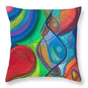 Mother Earth - Plant Healing - Gaia - Heart Chamber Awakening Throw Pillow