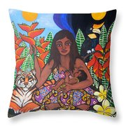 Mother Earth Sustains Throw Pillow