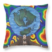 Mother Earth The Beginning Of Time Throw Pillow