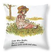 Mother Goose, 1881 Throw Pillow