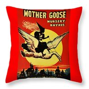 Mother Goose Throw Pillow