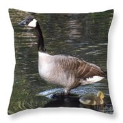 Mother Goose Is Watching Throw Pillow