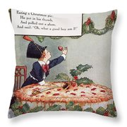 Mother Goose: Jack Horner Throw Pillow