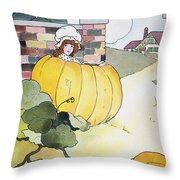 Mother Goose: Pumpkin Throw Pillow