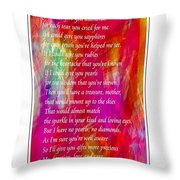 Mother If I Could Give You 2 Throw Pillow