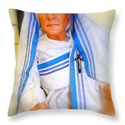 Mother In Motion Throw Pillow