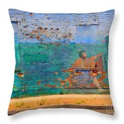 City Mural - Mother Mary Throw Pillow