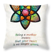 Mother Mom Art - Wandering Heart - By Sharon Cummings Throw Pillow