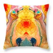 Mother Nature - Abstract Goddess Art By Sharon Cummings Throw Pillow
