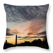 Mother Nature Painted The Sky Over Washington D C Spectacular Throw Pillow