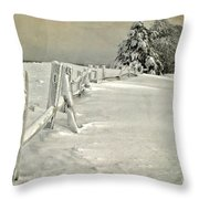 Mother Nature's Christmas Tree Throw Pillow