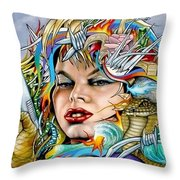 Mother Nature's Dark Side Throw Pillow