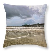 Mother Nature's Wrath Throw Pillow