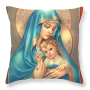 Mother Of God Throw Pillow