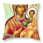 Mother Of Jesus Throw Pillow