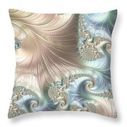 Mother Of Pearl - A Fractal Abstract Throw Pillow