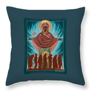 Mother Of Sacred Activism With Eichenberg's Christ Of The Breadline Throw Pillow