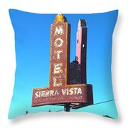 Mother Road Motel Throw Pillow