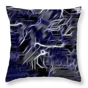 Motherboard - Printed Circuit Throw Pillow