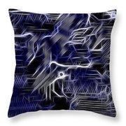 Motherboard - Printed Circuit Throw Pillow