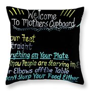 Mother's Cupboard Throw Pillow