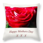 Mothers Day A Red Rose Throw Pillow