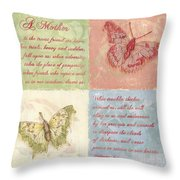 Mothers Day Butterfly Throw Pillow