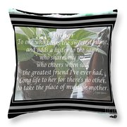 Mother's Day Greeting And Angel Throw Pillow
