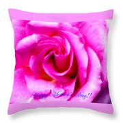 Mother's Day Rose Throw Pillow