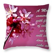 Mother's Day Sharing Throw Pillow
