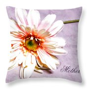 Mother's Gerber Daisy Throw Pillow