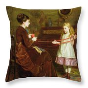 Mothers Little Helper Throw Pillow