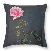 Mothers Rose Throw Pillow
