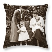 Mothers With Children Throw Pillow