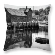 Motif 1 - Bw Throw Pillow