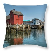 Motif #1 And The Pirate Ship Formidable Throw Pillow