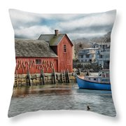 Motif #1 Watches Over The Amie V1 Throw Pillow