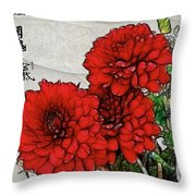 Motif Japonica No. 7 Throw Pillow