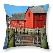 Motif Number One Rockport Lobster Shack Maritime Throw Pillow